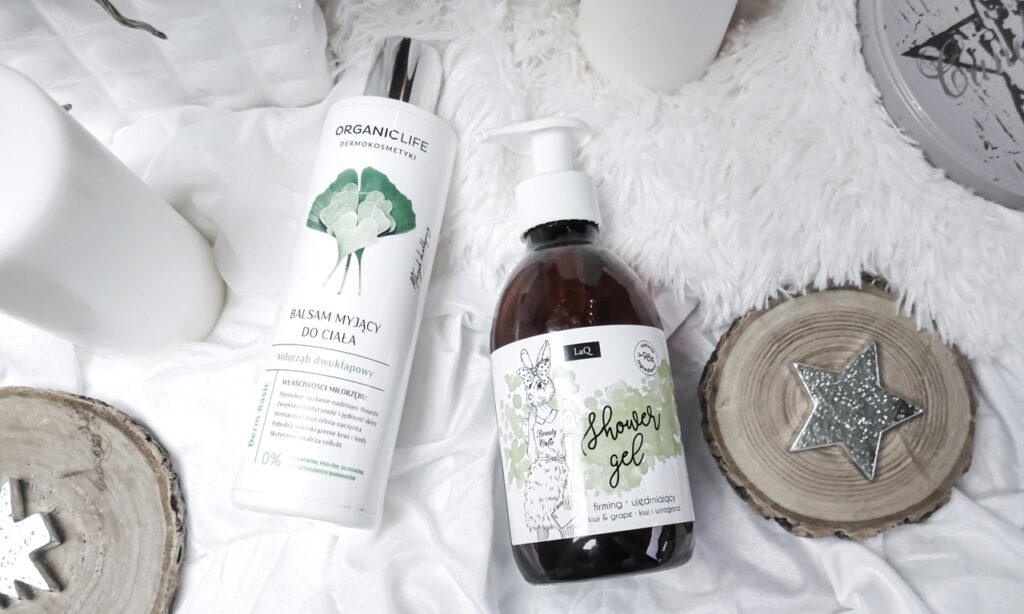 Organic Life Balsam myjący do ciała z miłorzębem dwuklapowym / Laq żel pod prysznic kiwi i winogrona