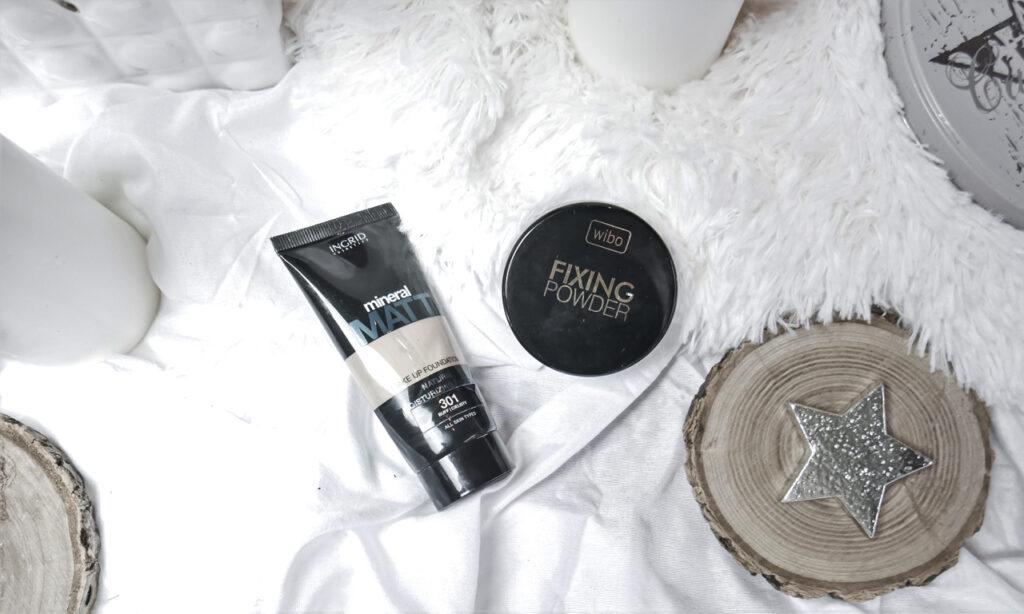 Ingrid Cosmetics podkład matujący Mineral Matt / Wibo Fixing Powder puder sypki